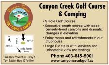 Canyon Creek Golf Course & Camping  • 9 Hole Golf Course
