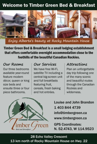 Welcome to Timber Green Bed & Breakfast